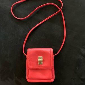 Clark's Leather Coral Crossbody Bag Purse